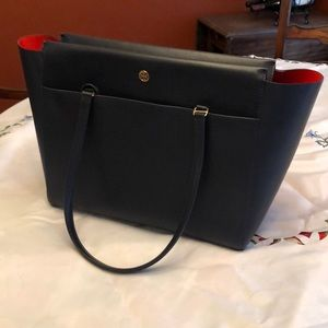 Tory Burch Parker leather navy tote